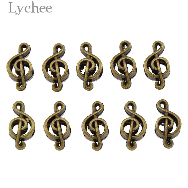 Lychee 10pcs Hip Hop Alloy Musical Note Hollow Hair Braid Dread Dreadlock Beads Clips Cuff Headwear Jewelry Men Women