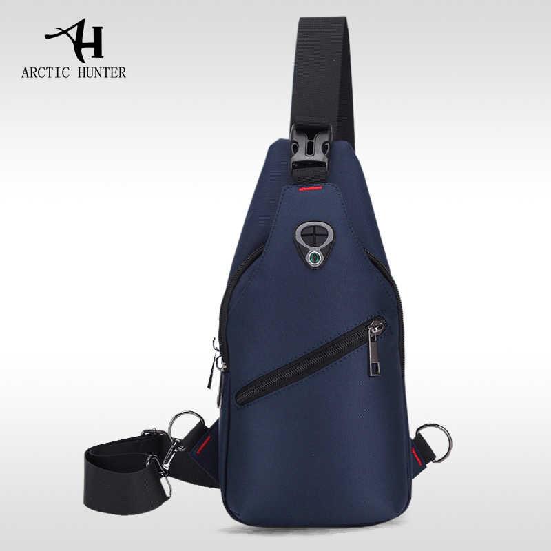 CAÇADOR ÁRTICO saco de peito 2019 Novos homens Moda casual pacote peito multifuncional saco impermeável Oxford pano bolsa de ombro diagonal