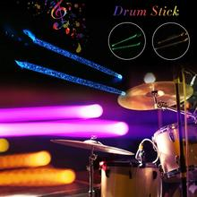 2pcs Acrylic Luminous Jazz Drum Stick Sturdy Durable Drumstick Bright LED Light Up Drumsticks Hand Drum Instrument Accessories 3pc acrylic drum shells 22x18 14x6 12x7inch