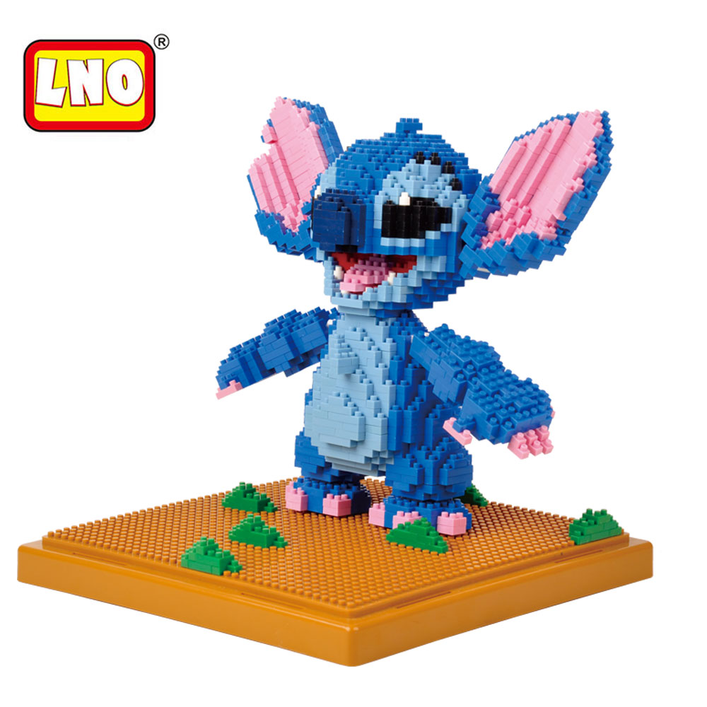 LNO Building Blocks Qute Gudetama DIY Model Japanese Cartoon 3D Anime Figures Mr. Egg Yolk And Kumamon Bricks Toys For Children