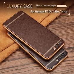 Pour Huawei P10 Lite 2017 De Luxe en Silicone Souple Cas Pour Huawei P10 Lite TPU Cas de Couverture Pour Huawei P10 Plus /P10Lite Fundas Capa