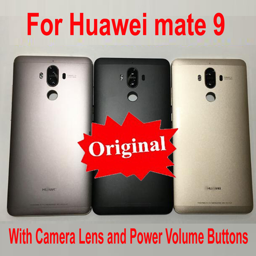 Original Battery Back Cover Housing Door Rear Case With Power Volume Buttons + Camera Lens For Huawei Ascend Mate 9 Mate9