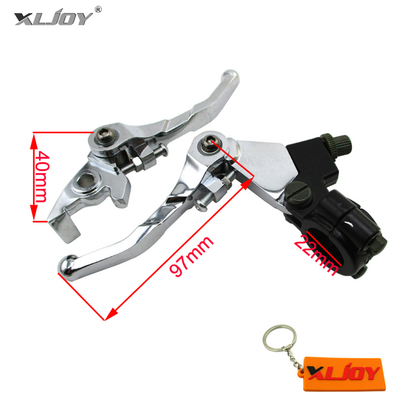 XLJOY Aluminum Alloy Brake Clutch Levers For CRF KLX TTR YCF GPX SSR Thumpstar Pit Dirt Bikes