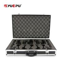 Yuepu ru 7c профессиональный конденсаторный микрофон набор 7 шт. высокой чувствительности комплект инструмент HD Запись открытый Группа Музыка