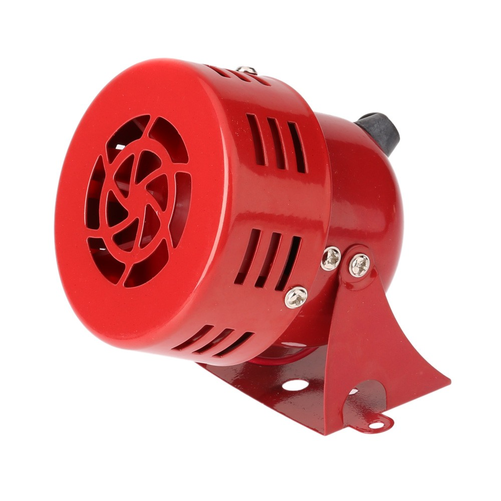 Free shipping High quality Wired Automotive Air Raid Siren Horn Car Truck Motor Driven Alarm Red siren alarm 110DB купить