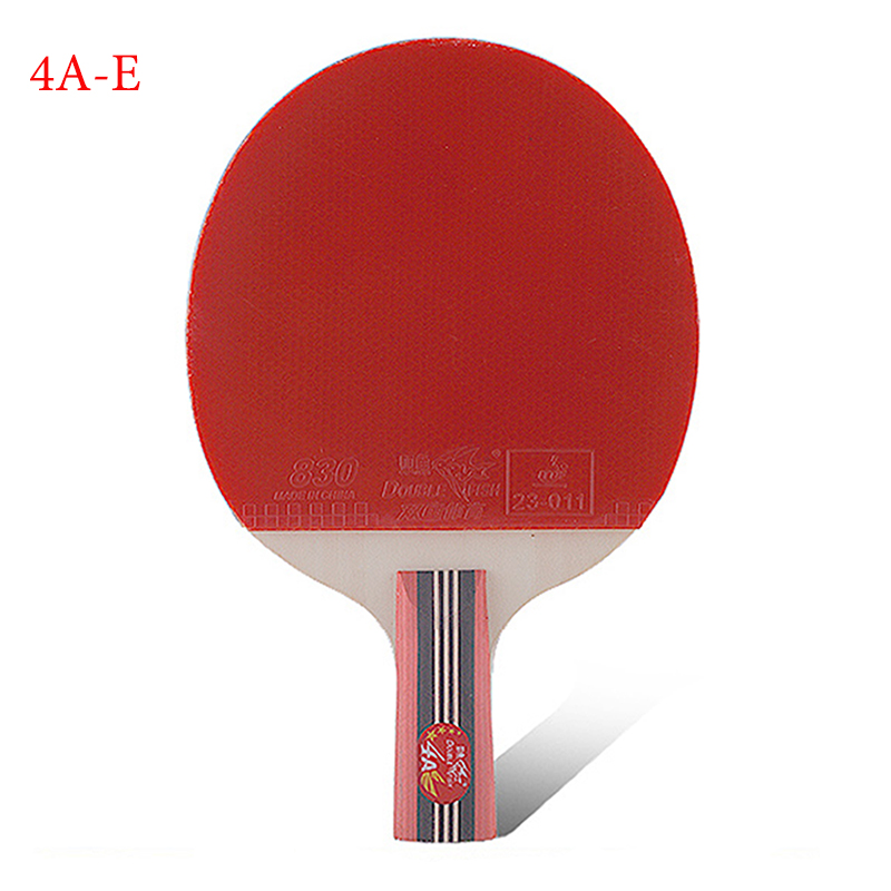 table tennis supplies genuine double fish four-star Straight Grip table tennis racket 4A-E beginners and medium ping-pong bats