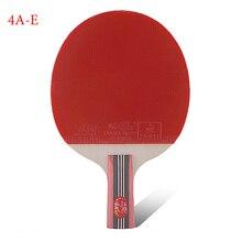 tenis meja bekalan dua ikan tulen empat bintang lurus raket raket meja lurus 4A-E dan kelawar ping-pong sederhana