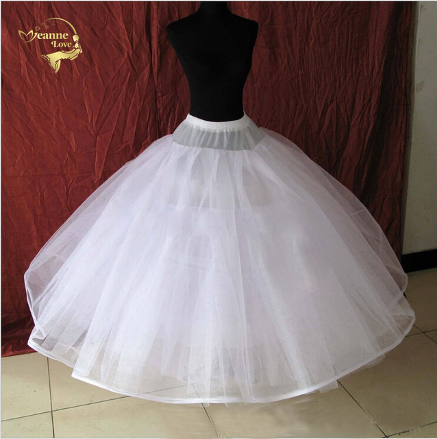 8 Layers Hard Tulle Underskirt Wedding Accessories Chemise Without Hoops For A Line Dress Wide