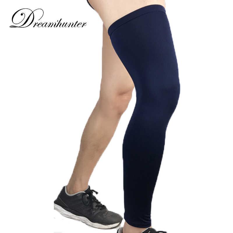afbad30fd9 Cycling Compression Leg Warmers Basketball Football Socks Knee Calf Sleeves  UV Sun Protectors Leg Sleeves Men