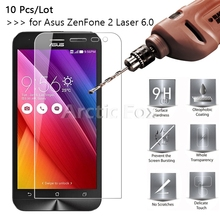 10 Pcs/Lot 2.5D 0.26mm 9H Premium Tempered Glass Screen Protector For Asus Zenfone 2 Laser ZE601KL ZE600KL 6.0 protective film