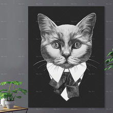 Modern Poster Art Prints Cartoon Animal No Frame Canvas Painting Artwork for Walls Living Room Picture(China)