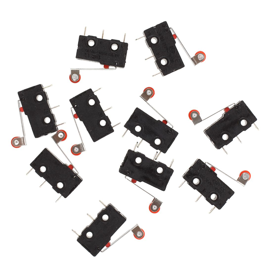 10 Pcs Mini Micro Limit Switch Roller Lever Arm SPDT Snap Action LOT [vk] 1se7 switch snap action spdt 1a 30v switch