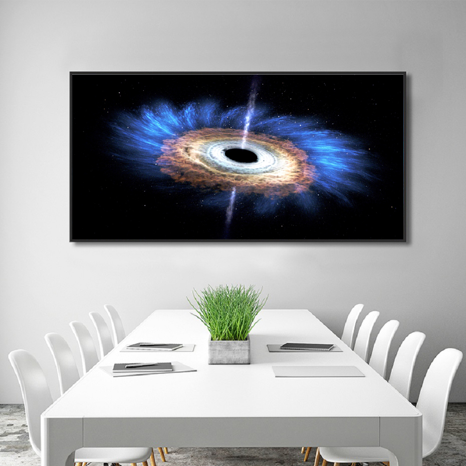 Modern Deep Space Black Hole Canvas Paintings Print Printed Universe Landscape Posters Wall Art Pictures Living Room Home Decor (4)