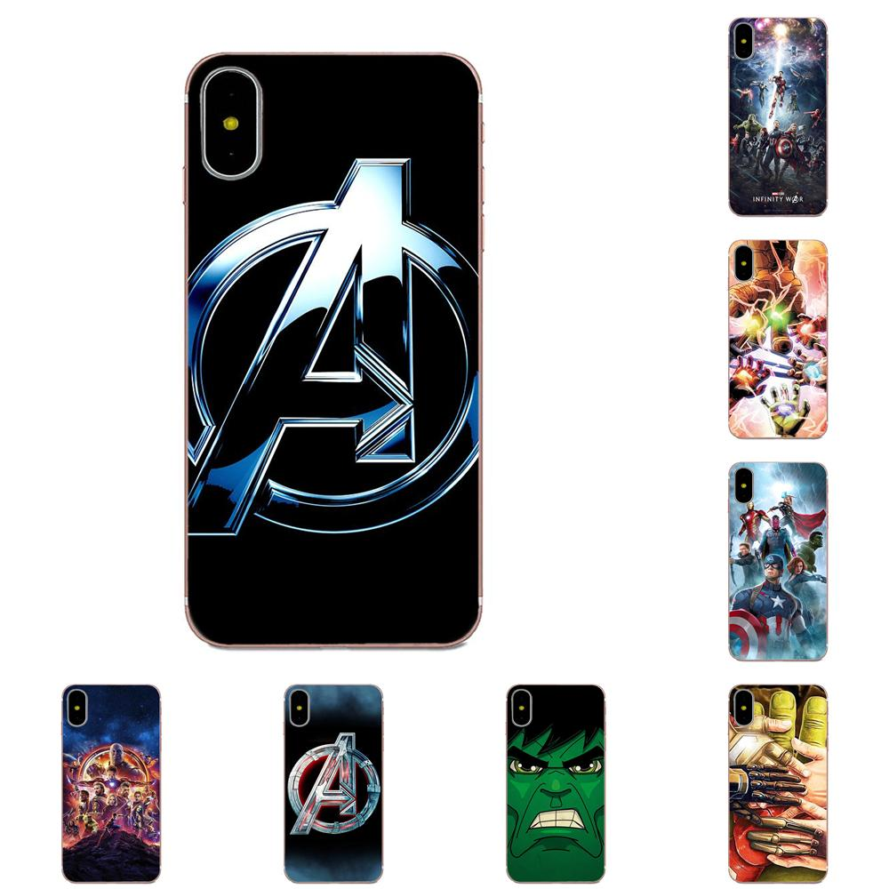 For Xiaomi Redmi Note 2 3 3S 4 4A 4X 5 5A 6 6A Pro Plus Quote Case Slim Marvel Superheroes The Avengers