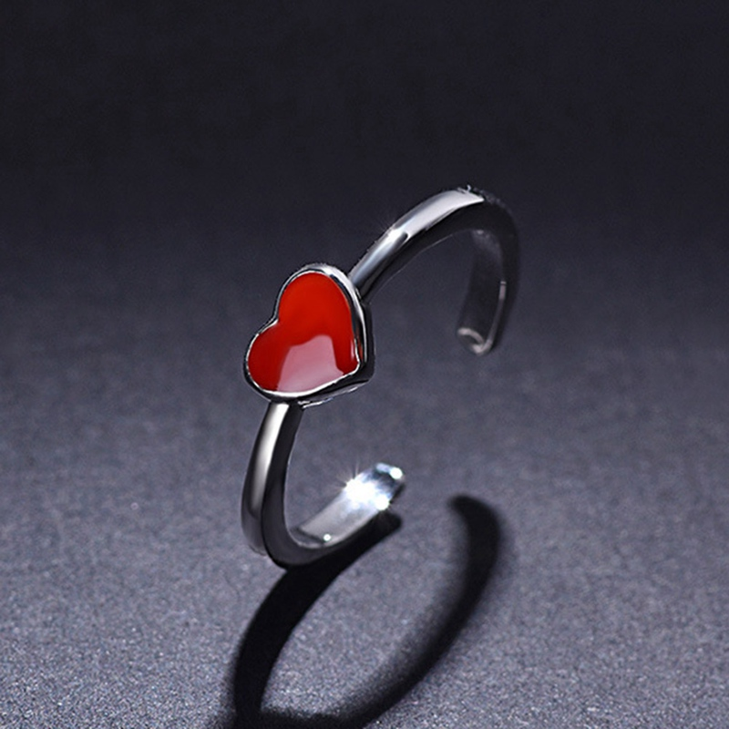 Fashion Red Heart High Quality Ring Wedding Jewelry brand Engagement Rings for Women Gift Bijoux Femme