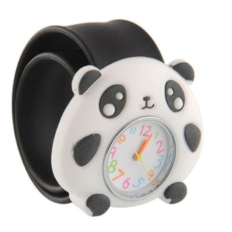 Fashion Kids Watch Cartoon Watch Children Student Panda Silicone Waterproof Quartz WristWatch Slap Cute Gift Student Watch