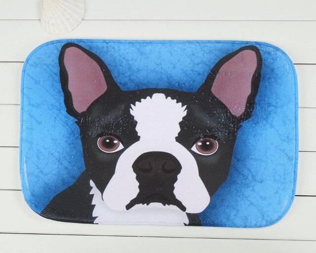 Blue Dog Dining Room Mat Bedside Balcony Kitchen Bathroom Footmat