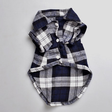 Plaids bruce&williams festival lapel grid dogs costume t-shirt pet dog spring