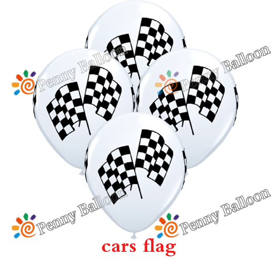 Event & Party Ballons & Accessories Good Wholesale 12pcs/lot Racing Flag Latex Balloon Party Balloons Checkered Balloon Car Race Line Toys For Kids Without Return