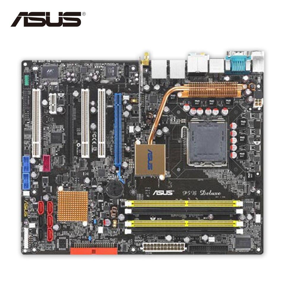 Asus P5B Deluxe Original Used Desktop Motherboard P965 Socket LGA 775 DDR2 SATA3 ATX asus original motherboard g31m s2l g31 ddr2 lga 775 motherboard