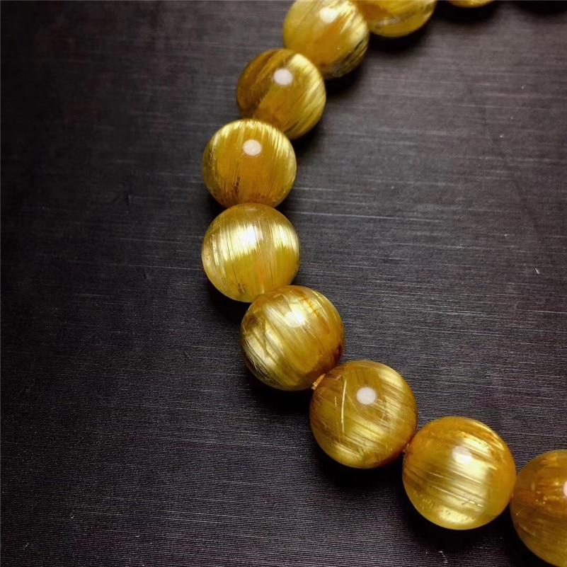 Natural Rutilated Titanium Quartz Bracelet (5)