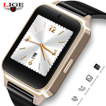 LIGE New Fashion Smart Watch Men Women Sports Pedometer MP4 Video Player Bluetooth Smartwatch Support SIM TF For Android ios