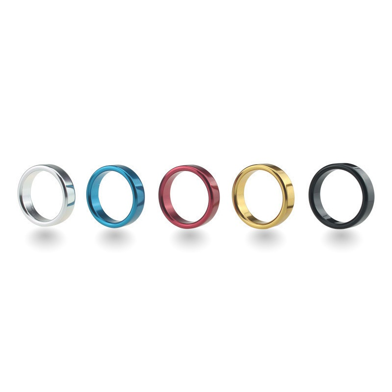 3 Dia For Choose 5 Colorful Metal Male Erection Penis Cock Ring Delay Time Lock Bondage SM Sex Toy For Men