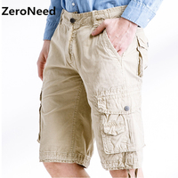 Calf length Cargo Shorts Casual Outdoors Brand Clothing Bermuda Loose Work Shorts Camo Solid Color Army Tactical Men Short 247