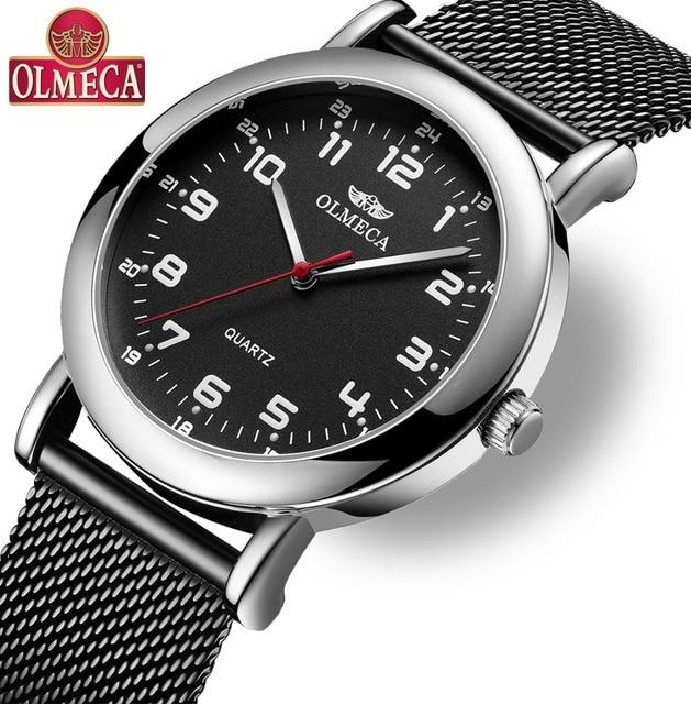e255b89b150 OLMECA Mens Relógios Top Marca de Luxo Relogio masculino Esporte Relógio de  Quartzo Homens de Negócios