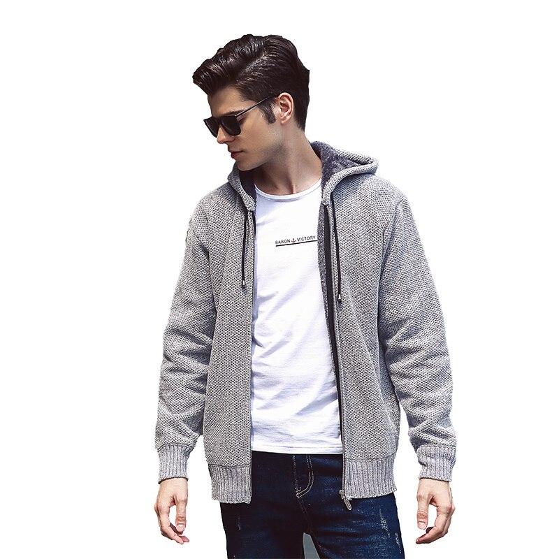 KUYOMENS nouveauté marque-vêtements automne et hiver Cardigan homme mode Slim Fit chandail hommes décontracté couleur unie chandails