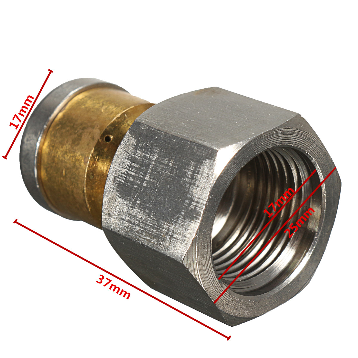 3/8 F высокое Давление шайба для чистки сопла шланг для очистки канализационных труб сопла 06 вращающийся спиннинг сопла