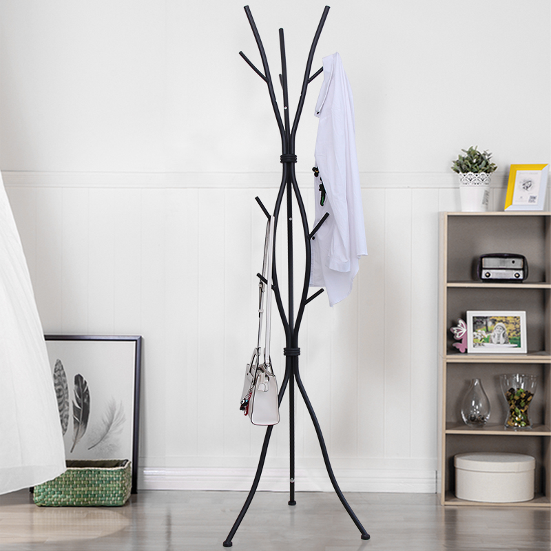 Unique Style Wrought Iron Floor Coat Rack, Simple Modern