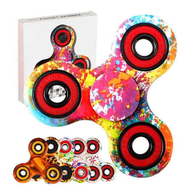 Spinner LED Spinner Finger Mini Music EDC Hand Spiners For Adult Funny  Tri-Spinner Toys