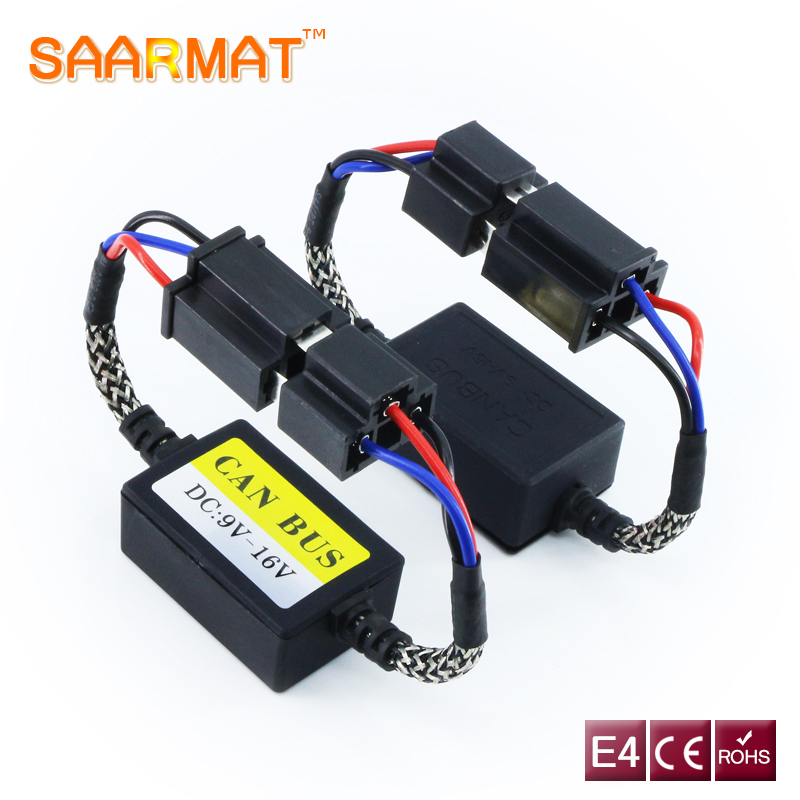 2pcs Error Free Canbus Decoder H1 H3 H4 H7 H8 H9 H11 9004 9005 9006 9007 9008 For Car Led Headlights Fog Lamps Bulbs Load Resist