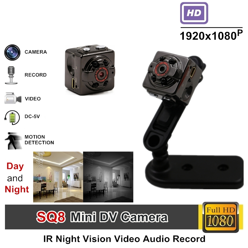 TANGMI Full HD Video 1080p DV DVR Mini Camera Camcorder SQ8 Micro Cam Motion Detection With Infrared Night Vision Drop Shipping