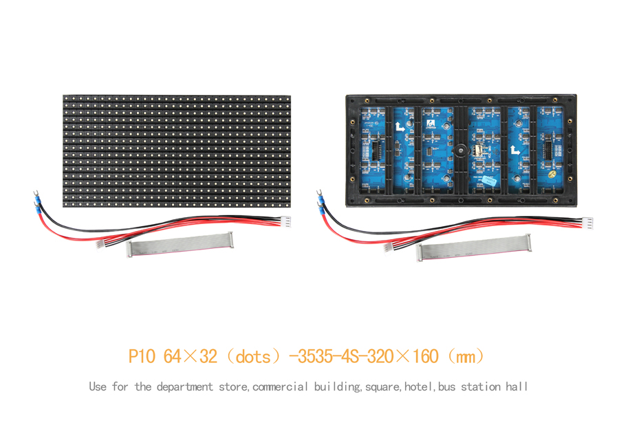 TEEHO Display Led P10 Outdoor LED Display Module Panel SMD3535 320*160mm 32*16 Pixels 1/4 Scan Full Color Video Hight Brightness