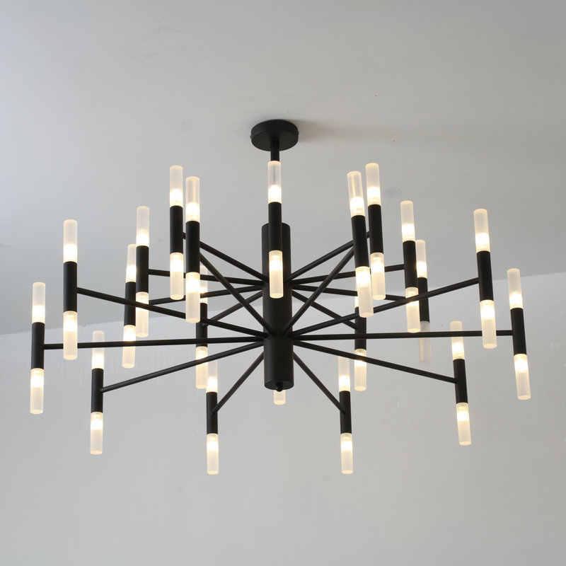 الموضة الحديثة مصمم الذهب الأسود Led السقف آرت ديكو علقت الثريا ضوء مصباح للمطبخ غرفة المعيشة Loft غرفة نوم