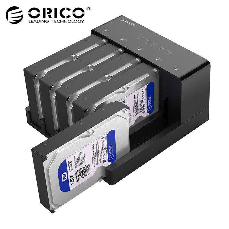 ORICO 2.5 3.5 SATA HDD Docking Station Super Vitesse USB 3.0 Hard Drive Enclosure Soutien 10 tb 5 Bay Hors Ligne clone noir 6558US3-C