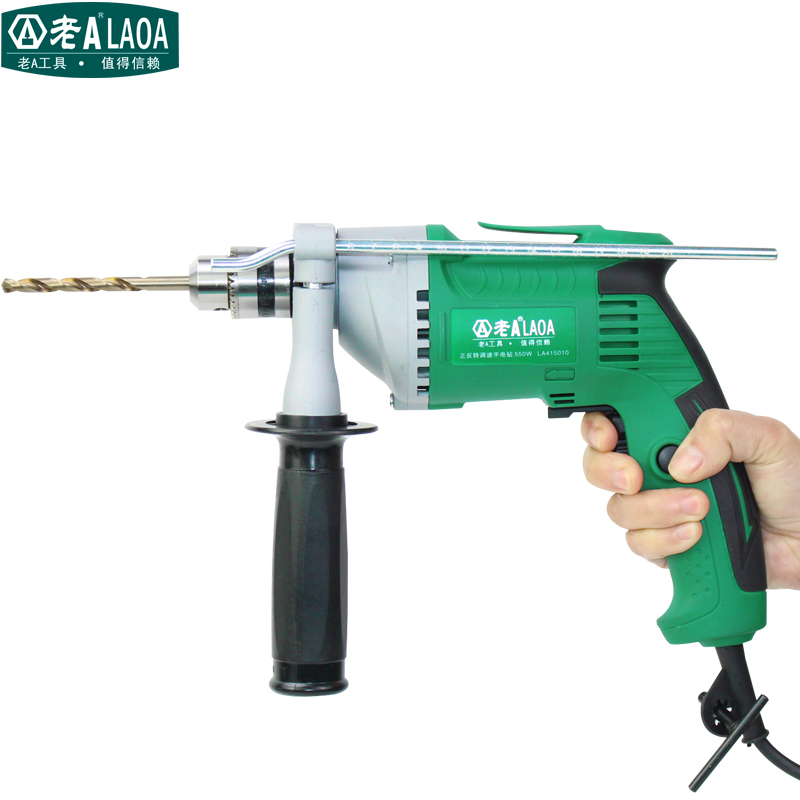 ФОТО LAOA 550W Household 220V Electric Drill Forward and Reverse Rotate Multifunction Electric Screwdriver Hole Drills