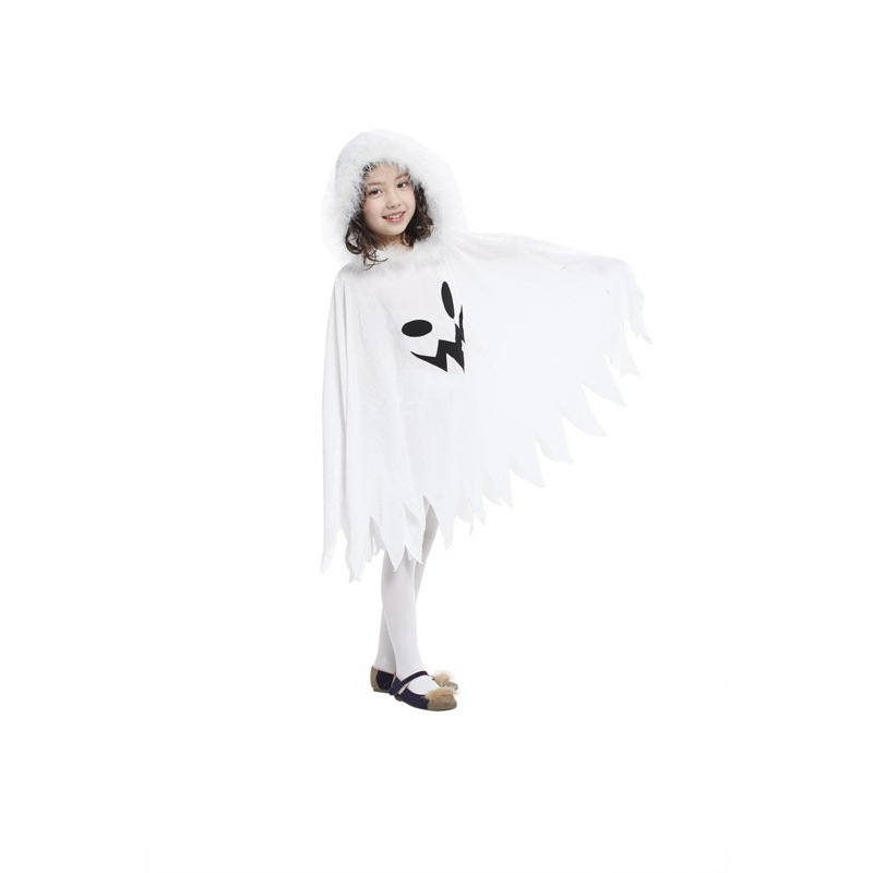 Child Kids Toddlers White Ghost Cloak Halloween Costumes  3