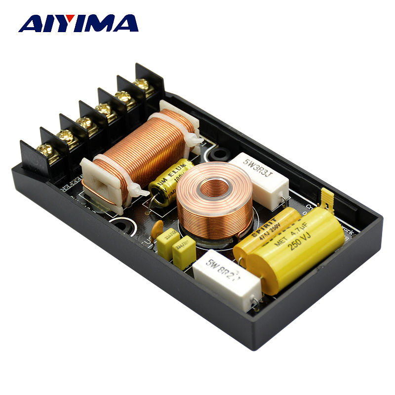 car audio crossover wiring diagram 2005 ford f150 stock radio aiyima 300w 1pcs super bass subwoofer frequency speaker 1pc 2 way divider speakers tweeter 100w