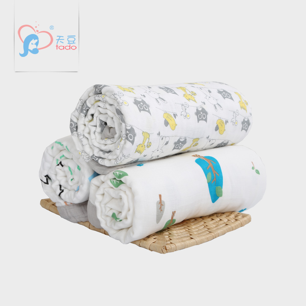 ФОТО Super Soft Newborn Baby Swaddle Wrap Character 6 Layers Baby Blankets Newborn  120*160 cm Baby Muslin Blankets 100% Cotton