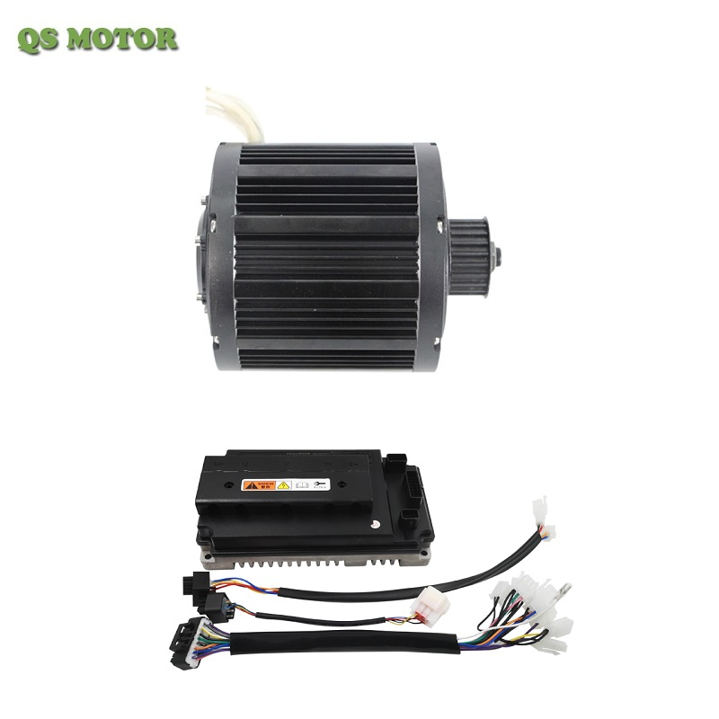 QSMOTOR 138 3000W Mid-drive BLDC Motor with Sine wave Controller Votol EM-150 for electric motorcycle
