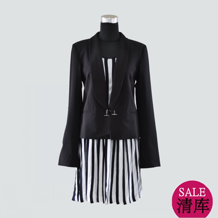 Fashion cop.copine spring and autumn long-sleeve short jacket 12473 suit design