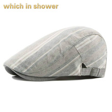 which in shower cotton striped beret for men adjustable brea