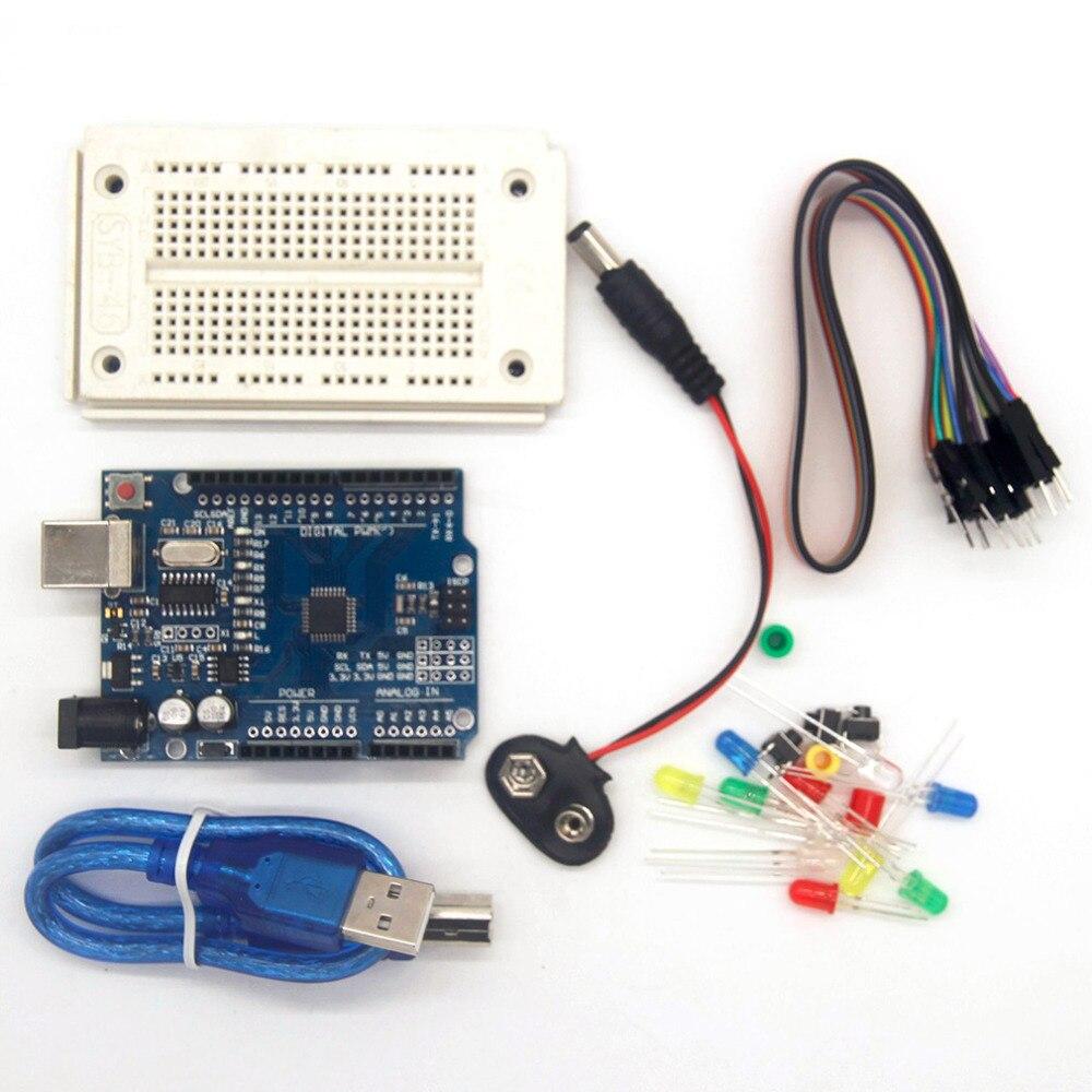 Высокое качество один Совместимость Комплект Profesional UNO комплект для Arduino UNO R3 выполните аксессуары Starter Kit