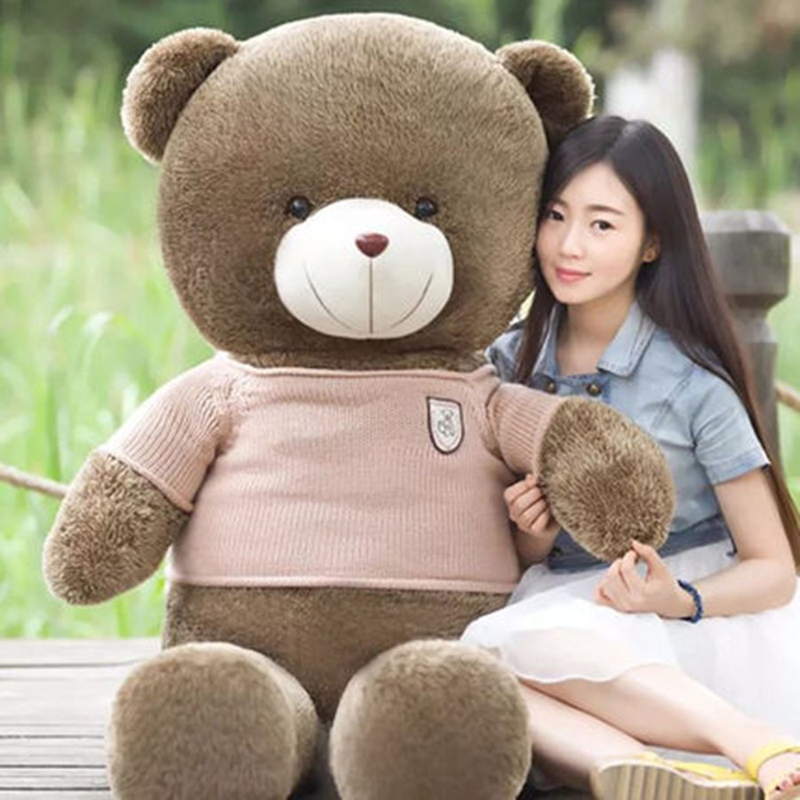New Bear Plush Toys Cute Animal Soft Stuffed Plush Toys Kids Peluches De Animales For Children Happy Birthday Gift 70C0023 plush pig pillow cute animal soft stuffed plush toys for children kawaii pig peluches de animales for kids birthday gift 70c0024