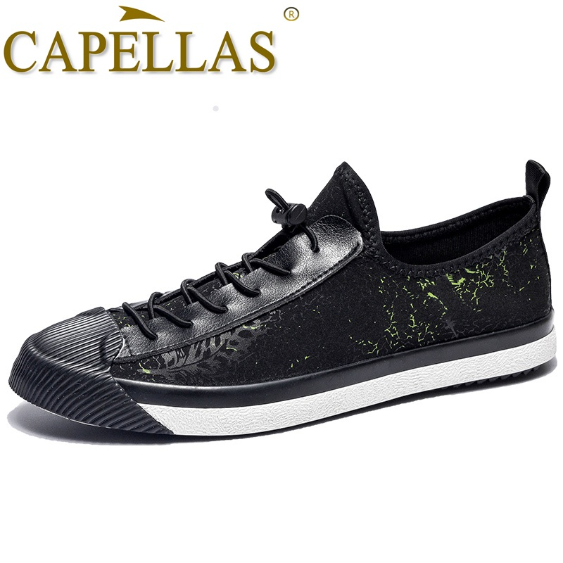 CAPELLAS New Men`s Fashion Canvas Shoes Breathable Summer Men Shoes Sport Designer Mens Casual Canvas Shoes Size 39-44 Zapatos