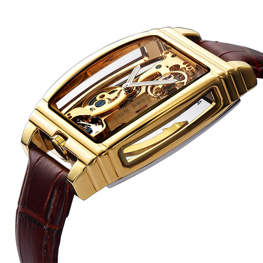 Image 2 - Golden Mechanical Watches Men Top Luxury Brand Automatic Self 