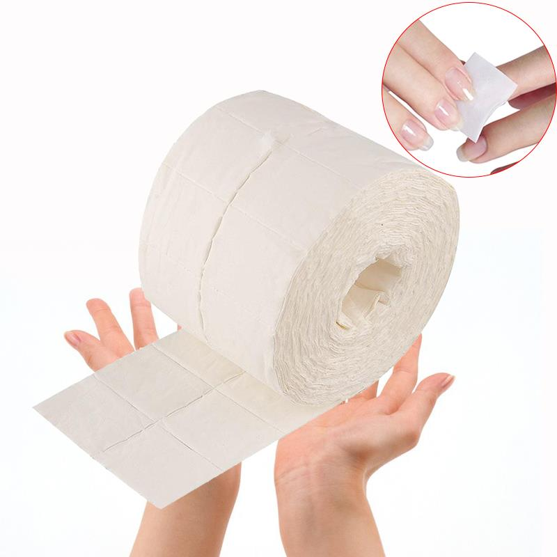Utile Durable 500 Pcs Nail Art Conseils Poudre Polonais Supprimer Papier Ouate Nettoyant De Cellulose Essuyer Tampons de Coton
